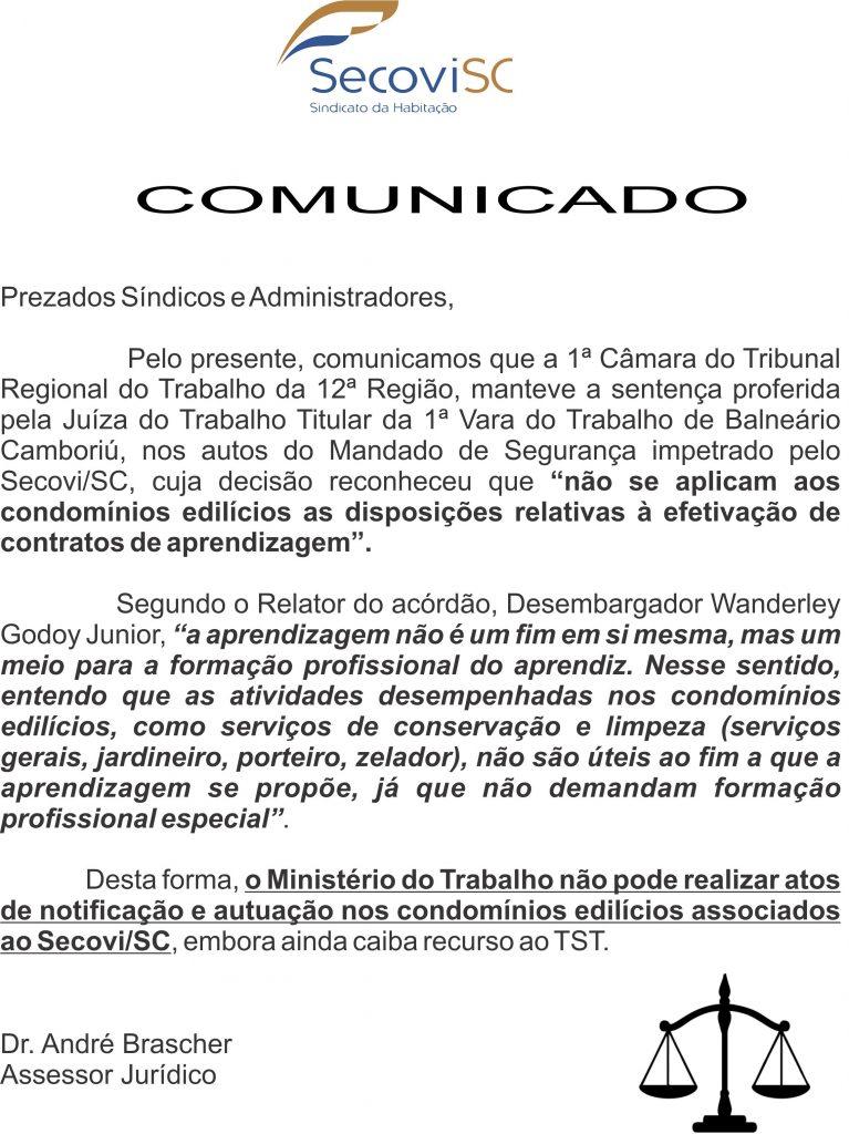 COMUNICADO MENOR APRENDIZ